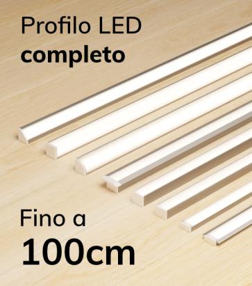 Profilo LED Completo per Illuminazione Dimmerabile - da 90cm a 100cm - Personalizzabile