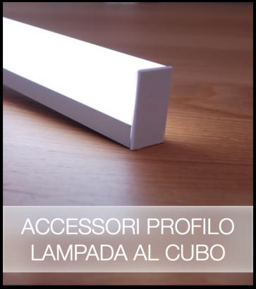 Accessori per Profilo in Alluminio Lineare Lampada al Cubo