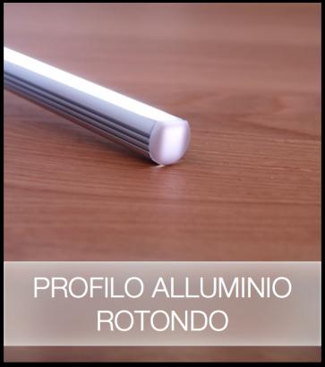 SUPER OFFERTA FINE SCORTE Profilo Rotondo in Alluminio per Strisce LED - 2 METRI