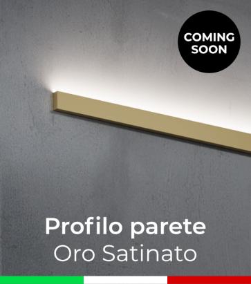 """Profilo in Alluminio """"Parete"""" per Strisce LED - Oro Satinato"""