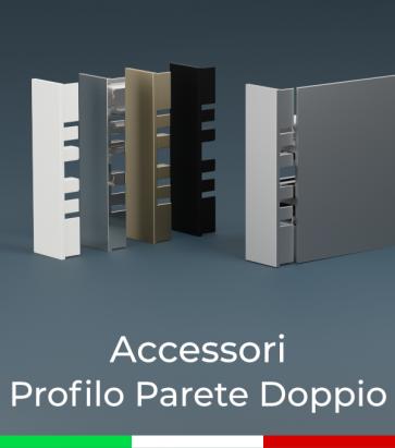 """Accessori per Profilo in Alluminio """"Parete Doppio"""""""