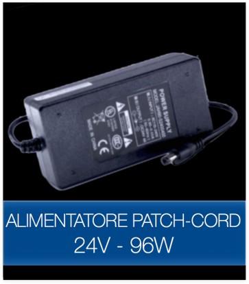 Alimentatore STABILIZZATO 24V 96W con Patch Cord