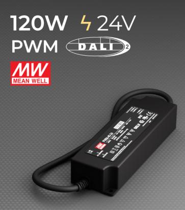 Alimentatore Meanwell PWM-120-24DA2 - 24V - 120W comandabile DALI 2