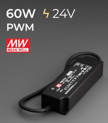 Alimentatore Meanwell PWM-60-24  - 24V - 60W