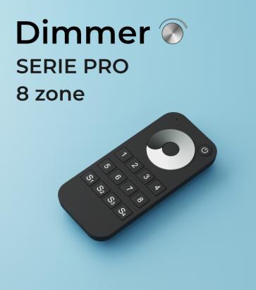 Dimmer a Telecomando PRO a 8 Zone + Centraline