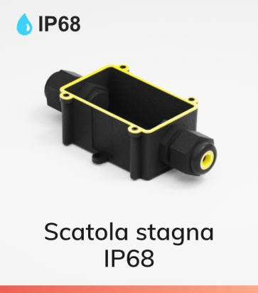 Scatola stagna IP68 - 3 poli - Morsetti inclusi - 24A - 450V