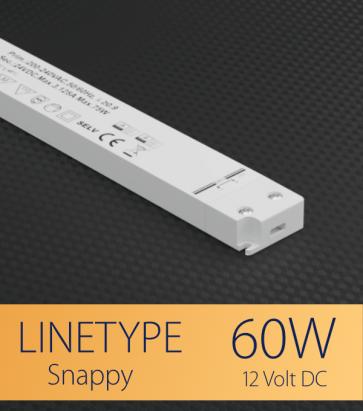 Alimentatore ULTRA SLIM SNAPPY LINETYPE SL60-12VF - 60W - 12V