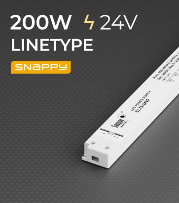 Alimentatore ULTRA SLIM SNAPPY LINETYPE SL200-24VF-1 - 200W - 24V