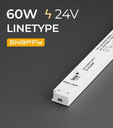 Alimentatore ULTRA SLIM SNAPPY LINETYPE SL60-24VF - 60W - 24V