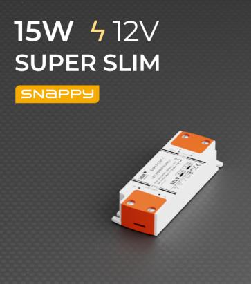 Alimentatore SUPER SLIM SNAPPY SNP15-12VF-1 - 15W - 12V