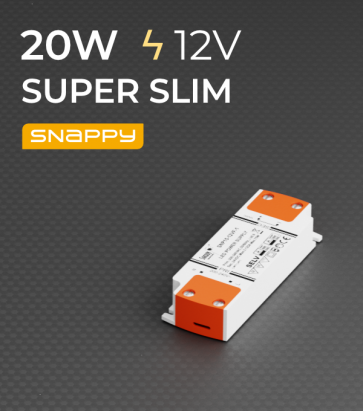 Alimentatore SUPER SLIM SNAPPY SNP20-12VF-E - 20W - 12V