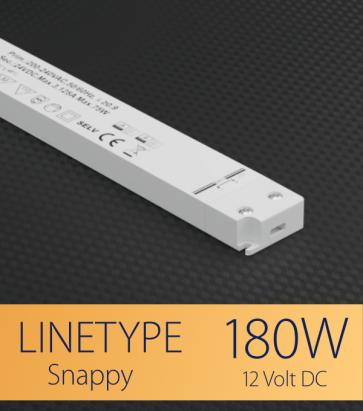 Alimentatore ULTRA SLIM SNAPPY LINETYPE SNP200-12VF-1 - 180W - 12V