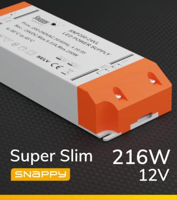 Alimentatore SUPER SLIM SNAPPY SNP250-12VL - 216W - 12V