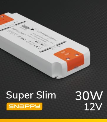Alimentatore SUPER SLIM SNAPPY SNP30-12VF-3 - 30W - 12V