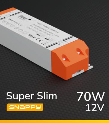 Alimentatore SUPER SLIM SNAPPY SNP75-12VL-E - 70W - 12V