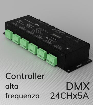 Centralina DMX 24 CANALI x 4A alta frequenza