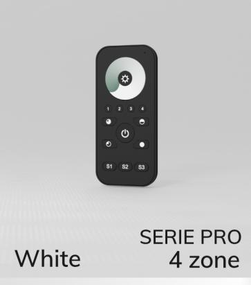 Dimmer Touch con Telecomando PRO a 4 Zone + Centraline