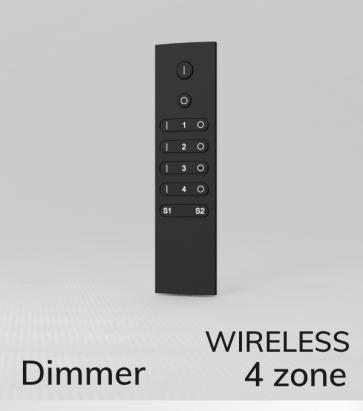 Dimmer con Telecomando a 4 Zone + Centraline