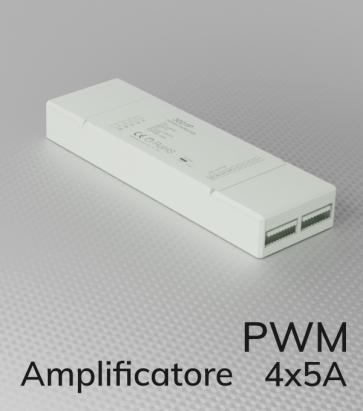Amplificatore PWM 4Ch. x 5A  - Strisce LED