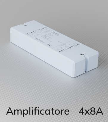 Amplificatore PWM 4Ch. x 8A  - Strisce LED