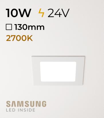 Faretto da Incasso Quadrato Slim 10W LUCE CALDA - Downlight - LED Samsung