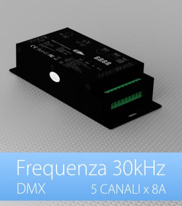 Centralina DMX 5 CANALI x 8A alta frequenza