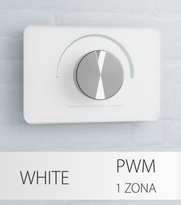 Dimmer Potenziometro da Parete PWM 20 Amp - per strisce LED - Bianco o Nero