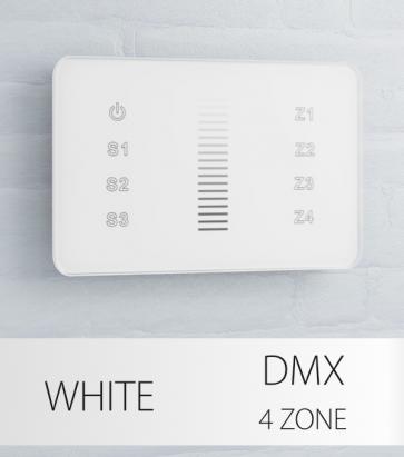 Dimmer Slider Touch da Parete a 4 Zone DMX - per strisce LED - Bianco o Nero