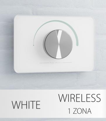 Dimmer Potenziometro da Parete Wireless - per strisce LED - Bianco o Nero