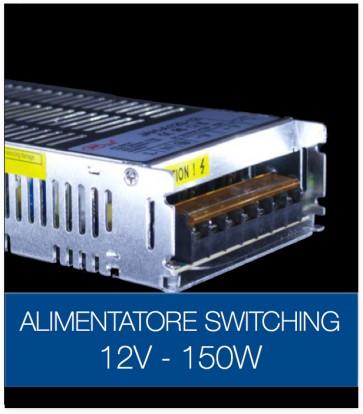 Alimentatore Switching 12V 150W DC STABILIZZATO