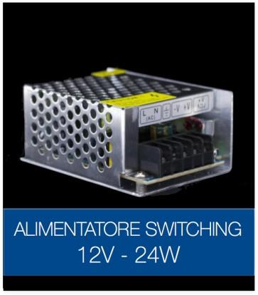 Alimentatore Switching 12V 24W DC STABILIZZATO
