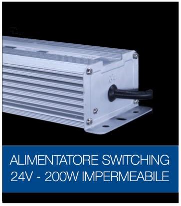 Alimentatore Switching 24V 200W Stabilizzato Resistente all'acqua