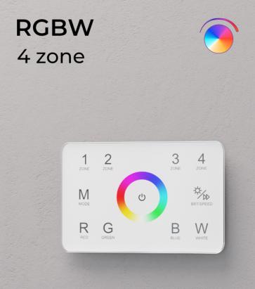 Controller RGBW Touch da Parete - 4 Zone + Centraline