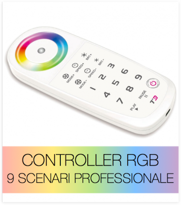 RGB telecomando touch professionale 9 scenari + centraline