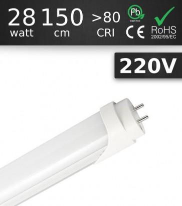 Tubo LED T8 1500mm 28W Chip SMD2835 - Bianco CALDO
