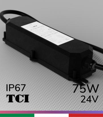 Alimentatore TCI ST2 IP67 24V 75W impermeabile IP67