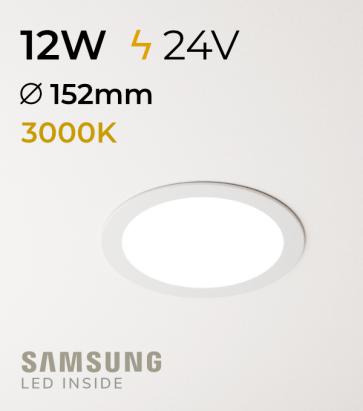 Faretto da Incasso Rotondo Slim 12W BIANCO CALDO - Downlight - LED Samsung