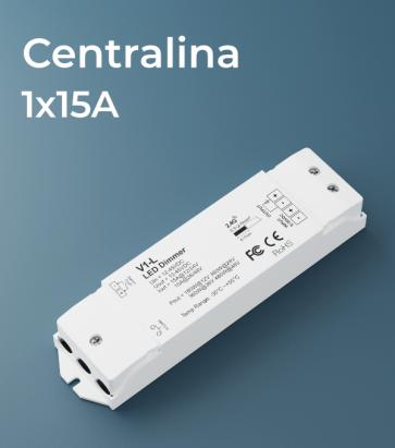 Centralina 1 canale x 15A - RF e Push Button
