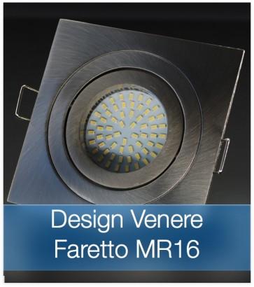 Corpo Faretto Satinato con Faretto MR16 7.5W - Design VENERE