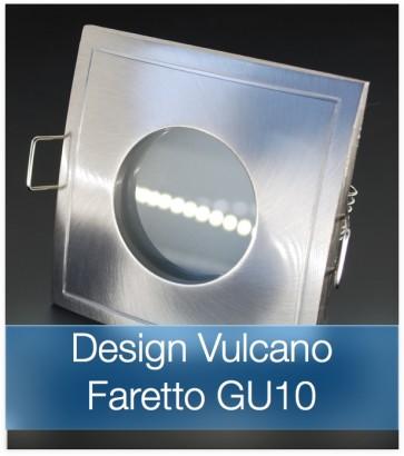 Corpo Faretto Satinato con Faretto LED GU10 5W - Design VULCANO