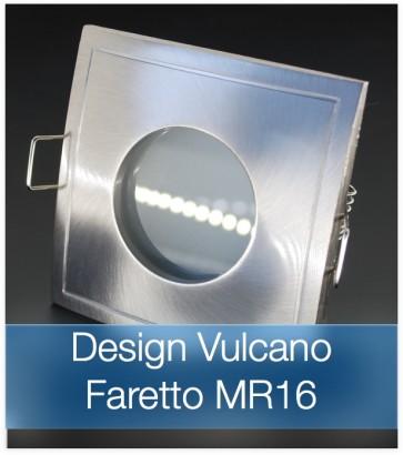 Corpo Faretto Satinato con Faretto MR16 7.5W - Design VULCANO