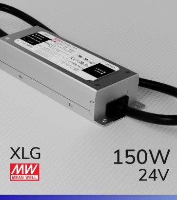 Alimentatore MeanWell XLG-150-24 24V 150W Resistente All'acqua - Tensione Regolabile