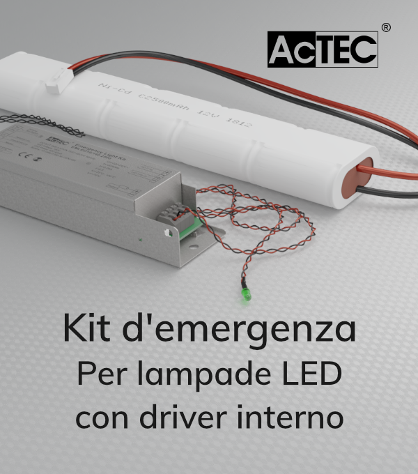 Tabella Di Conversione Lampade A Led.Kit Di Emergenza Luci A Led Per Lampade Con Driver Interno Actec