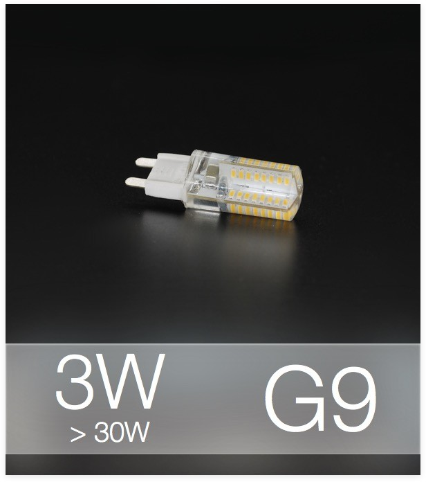 Lampadina faretto led g9 smd3014 3w bianco naturale for Lampadine led 3 volt