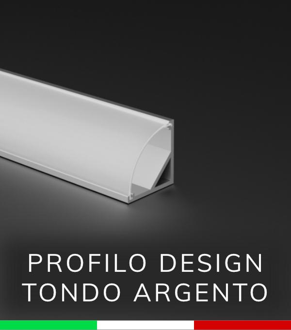 Profilo Angolare tondo in alluminio per Strisce LED