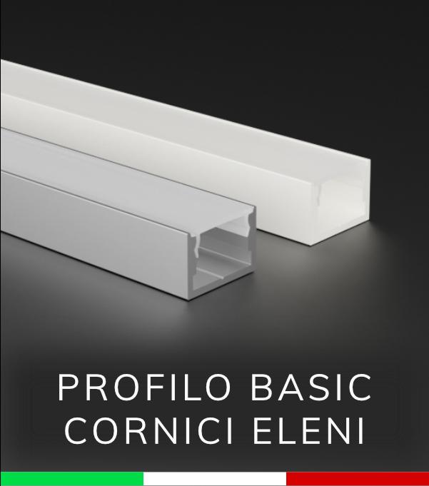 Profilo in alluminio lineare per strisce led ossidato for Cornici per strisce led