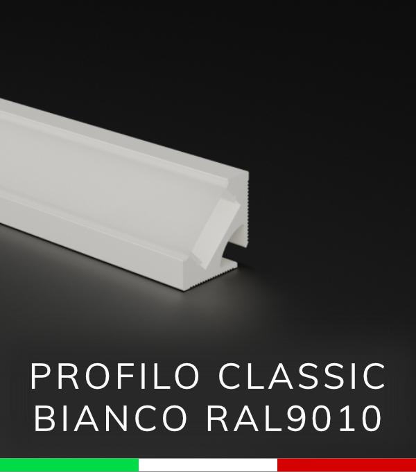 Profilo Angolare In Alluminio Design Classic Bianco Ral9010 Per