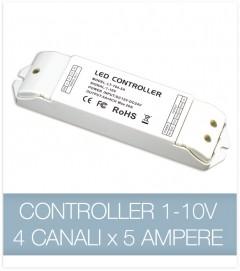 Controller 1-10v 4CH x 5 Ampere - Dimmer strisce LED