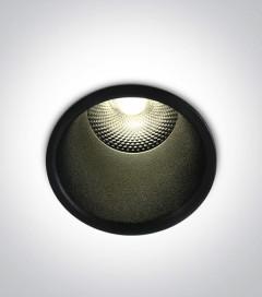 Faretto LED da Incasso recesso Nero - 5W - Bianco Caldo 3000K