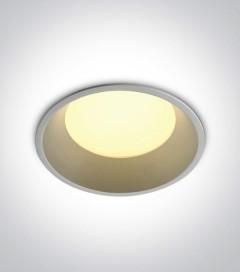 Faretto LED da Incasso recesso Bianco - 9W - Bianco Caldo 3000K